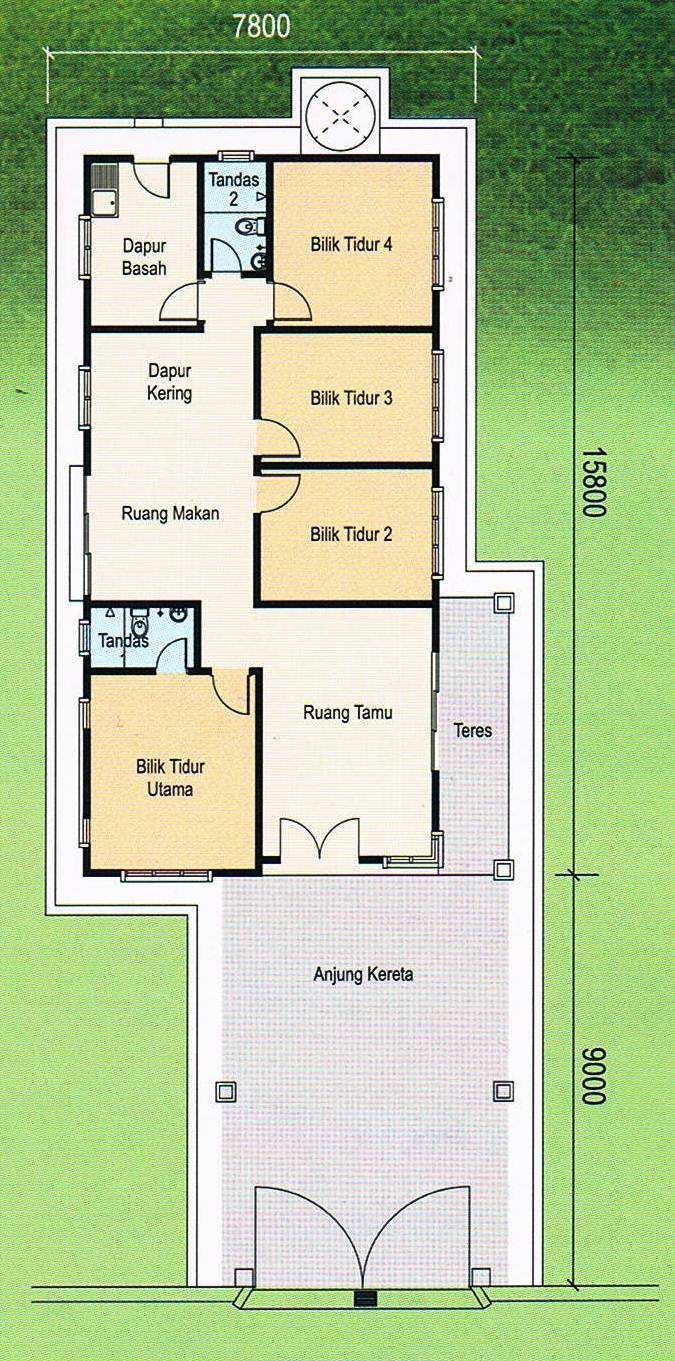 Floor Plan Single Storey Bungalow K K Club 2018